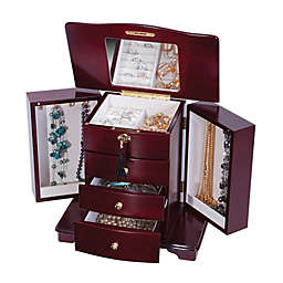 Mele & Co. Waverly Wooden Jewelry Box in Cherry