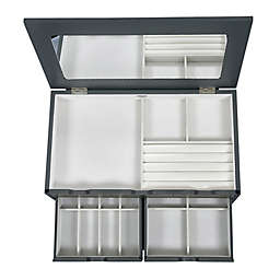 Mele & Co. Coventry Jewelry Box In Oceanside Grey