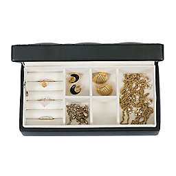 Mele & Co. Opal Faux Leather Fashion Jewelry Box in Black