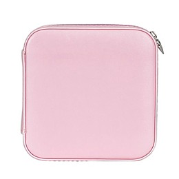 Mele & Co. Josette Faux Leather Travel Jewelry Case in Blush