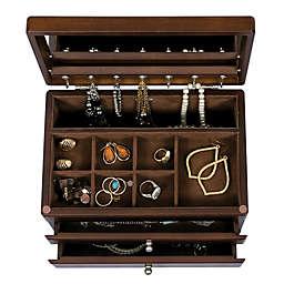 Mele & Co. Brisbane Wooden Jewelry Box In Walnut