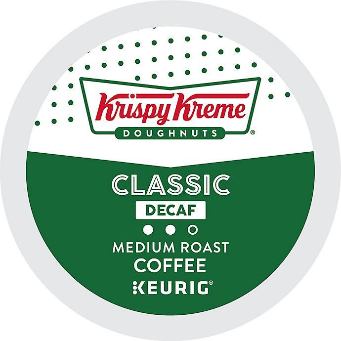 Alternate image 1 for Keurig® K-Cup® 18-Count Krispy Kreme® Classic Decaf Medium Roast Coffee
