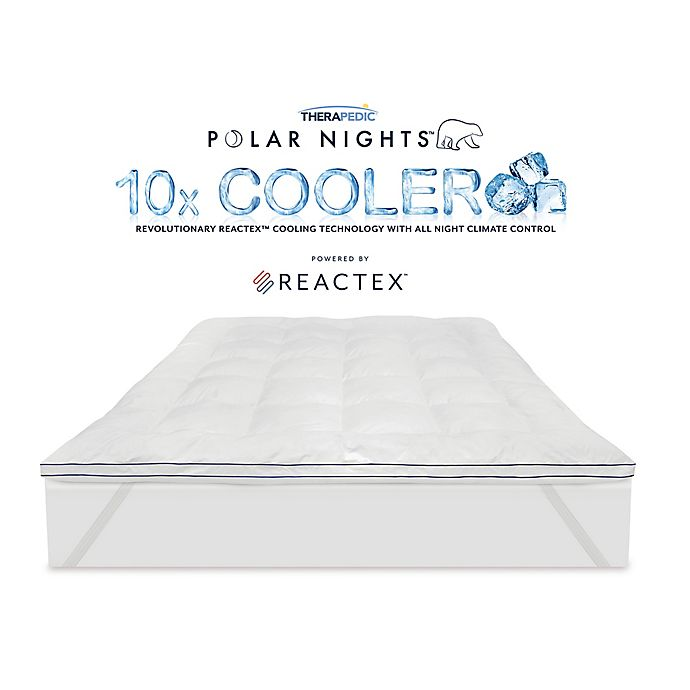 Alternate image 1 for Therapedic® Polar Nights™ 10x Cooling Ice Cube Queen Mattress Topper