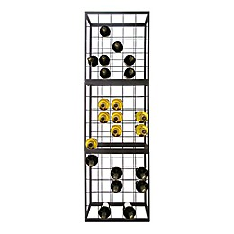 Epicureanist 25-Bottle Stackable Wire Wine Rack in Black