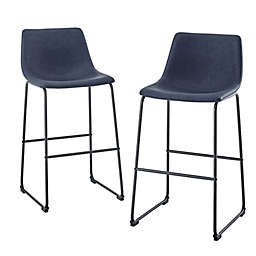 Forest Gate™ Faux Leather Stools (Set of 2)