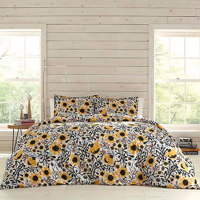 Alternate image 1 for marimekko® Mykero 3-Piece King Comforter Set in White