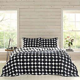 Marimekko® Pienet Kivet Full/Queen Quilt Set in Black