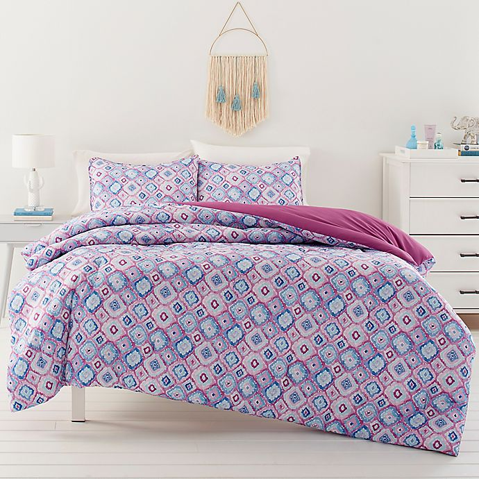 Alternate image 1 for Ivory Ella® Leah Comforter Set in Berry