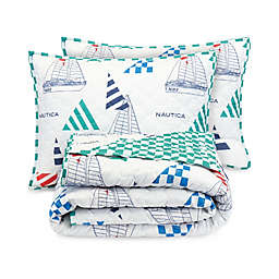 Nautica® Sailboat Kid's Quilt Set in White