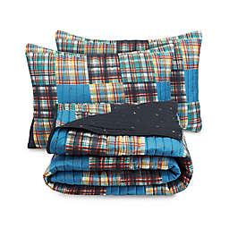 Nautica® Plaid Kid's Quilt Set in Navy