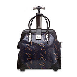 Sonya Midnight Jungle Trolley Bag with 360-Degree Wheels in Black/Gold