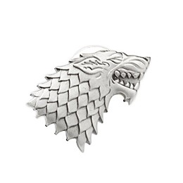 Game of Thrones Stark Direwolf Sigil Antiqued Lapel Pin