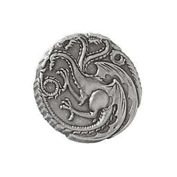 Game of Thrones Targaryen Dragon Sigil Antiqued Lapel Pin