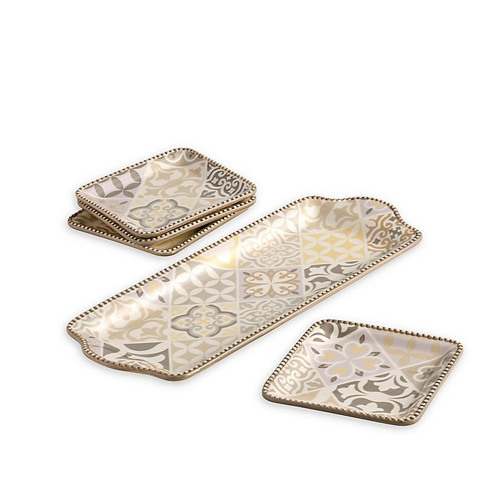 Alternate image 1 for Over and Back® Willow 5-Piece Appetizer Serving Set