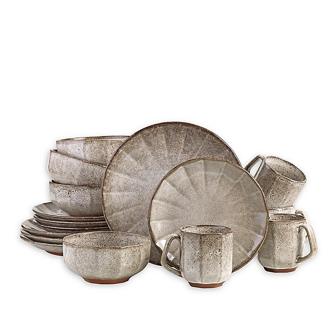 Alternate image 1 for Over and Back® Burlington 16-Piece Dinnerware Set in Taupe