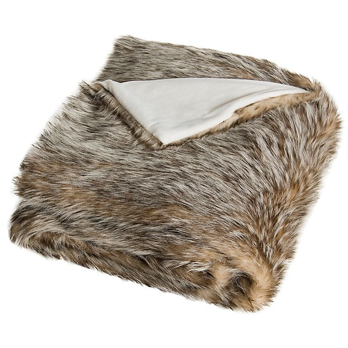 Alternate image 1 for Safavieh Dusty Faux Fur Throw Blanket