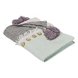 Safavieh Norra Throw Blanket in Grey/Purple