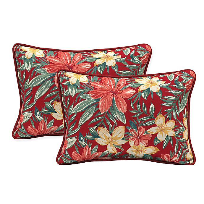 Alternate image 1 for Arden Selections Oblong Indoor/Outdoor Lumbar Pillows