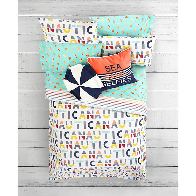 Alternate image 1 for Nautica® Flag and Letters Kid's Bedding Collection  <br />