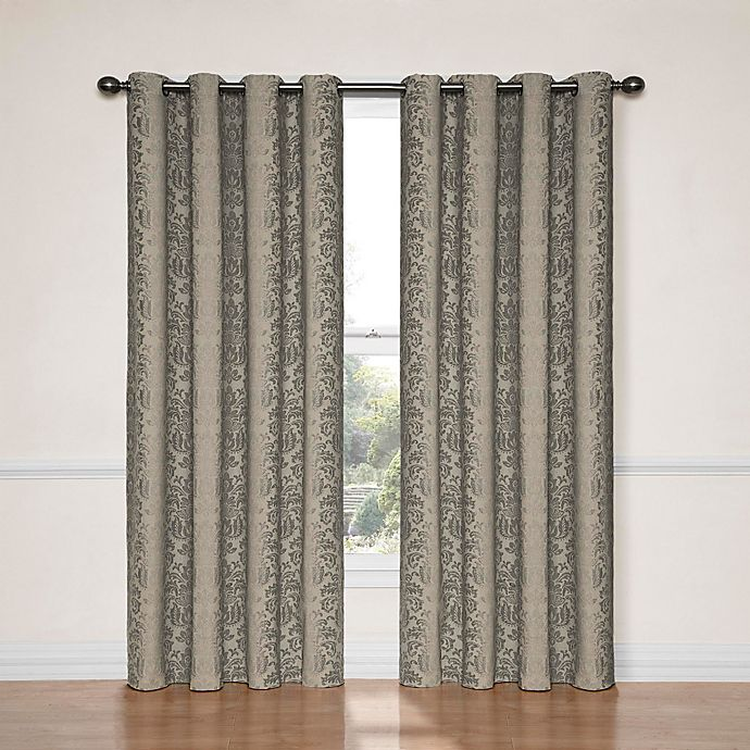 Alternate image 1 for Eclipse Nadya 95-Inch Room Darkening Window Curtain Panel in Black