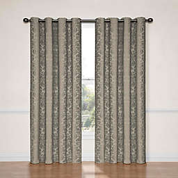 Eclipse Nadya 95-Inch Room Darkening Window Curtain Panel in Black