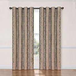 Eclipse Nadya 63-Inch Room Darkening Window Curtain Panel in Natural Linen