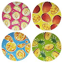 Wave Melamine Fruit Salad Plates (Set of 4)