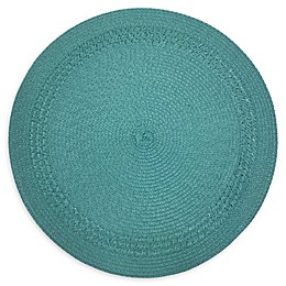 Destination Summer Spiral Border Indoor/Outdoor Round Placemat