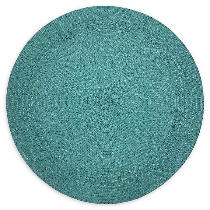 Alternate image 1 for Destination Summer Spiral Border Indoor/Outdoor Round Placemat