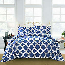 Jasper Haus Elodie 2-Piece Twin/Twin XL Comforter Set in Navy