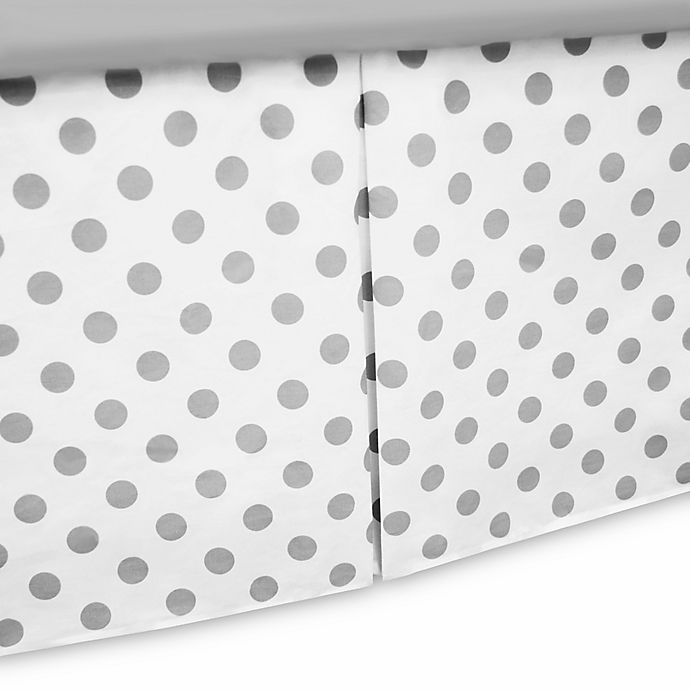 Tl Care Cotton Percale Tailored Crib Bed Skirt With Pleat In White