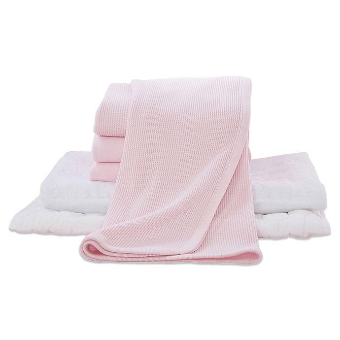 Alternate image 1 for TL Care® 6-Piece Mini-Crib Starter Kit in Pink