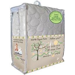 Dreamtex My Little Nest Pebbletex Waterproof Organic Cotton Crib Mattress Pad Covers (2-Pack)