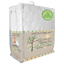 Dreamtex My Little Nest 2-Pack Waterproof Tencel® Lyocell Pebbletex Crib Mattress Pad Covers
