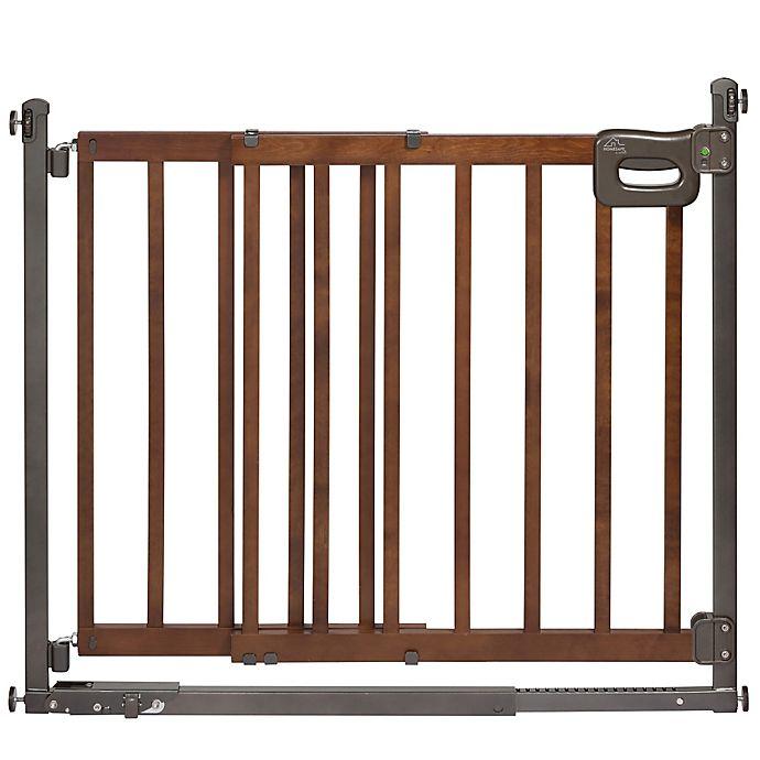 Alternate image 1 for HomeSafe Step to Secure Wood Walk-Thru Gate