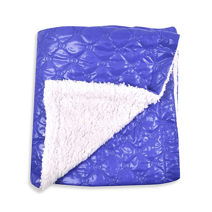 Alternate image 1 for Tadpoles™ by Sleeping Partners Quilted Puffer Baby Blanket with Sherpa Backing in Royal Blue