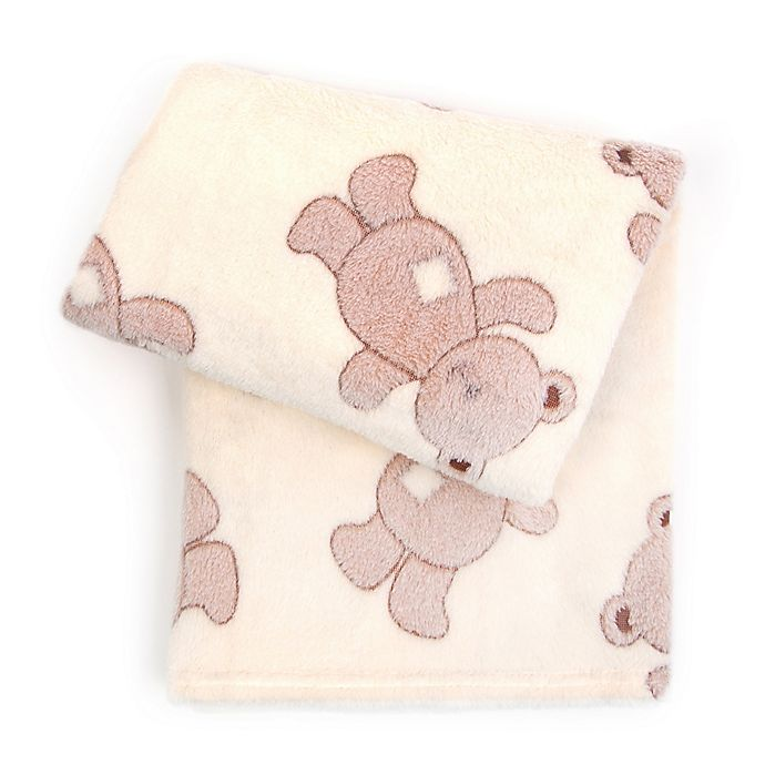 Alternate image 1 for Tadpoles™ by Sleeping Partners 3D Bears Jacquard Baby Blanket in Brown