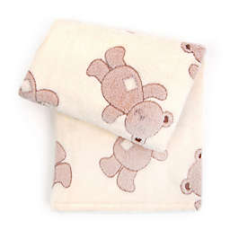 Tadpoles™ by Sleeping Partners 3D Bears Jacquard Baby Blanket in Brown