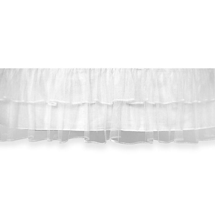 Alternate image 1 for Tadpoles™ by Sleeping Partners Tulle Triple Layer Crib Skirt in White