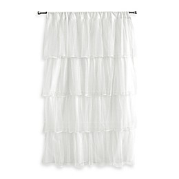 Tadpoles Layered Tulle Rod Pocket Window Curtain Panel