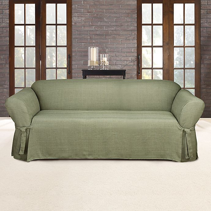 Stupendous Sure Fit Mason Relaxed Fit Sofa Slipcover In Sage Dailytribune Chair Design For Home Dailytribuneorg