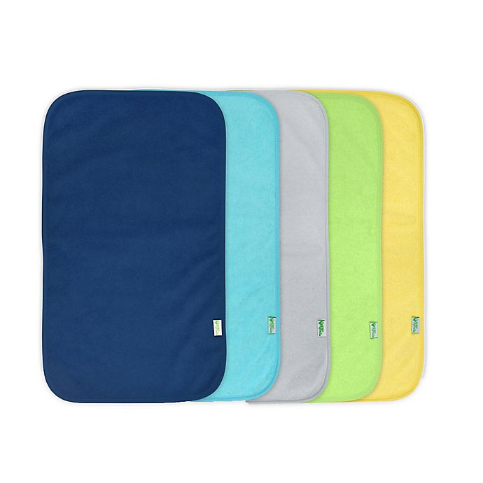 Alternate image 1 for green sprouts® 5-Pack Waterproof Absorbent Boys Terry Burp Pad