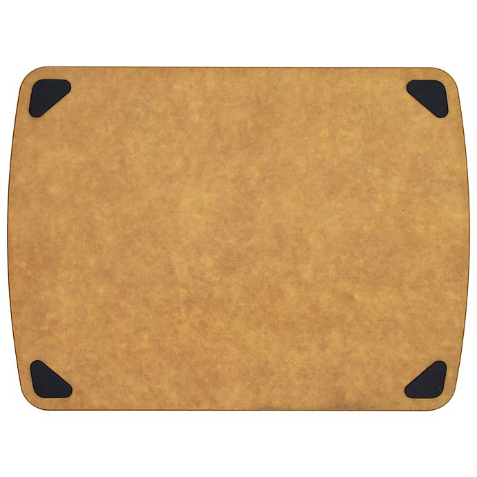Alternate image 1 for Artisanal Kitchen Supply® 14.8-Inch x 11-Inch Wood Fiber Cutting Board with Silicone Feet