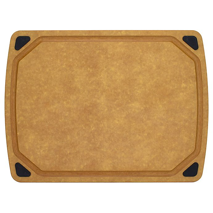 Alternate image 1 for Artisanal Kitchen Supply® 17.75-Inch x 13-Inch Wood Fiber Cutting Board with Juice Well