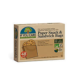 IF YOU CARE® 48-Piece Eco-friendly Paper Snack & Sandwich Bags