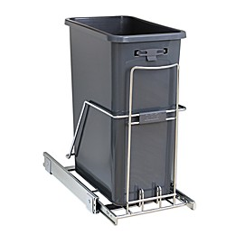 ORG™ Org Steel Under Cabinet 15.74-Inch x 10.2-Inch Trash Can in Chrome