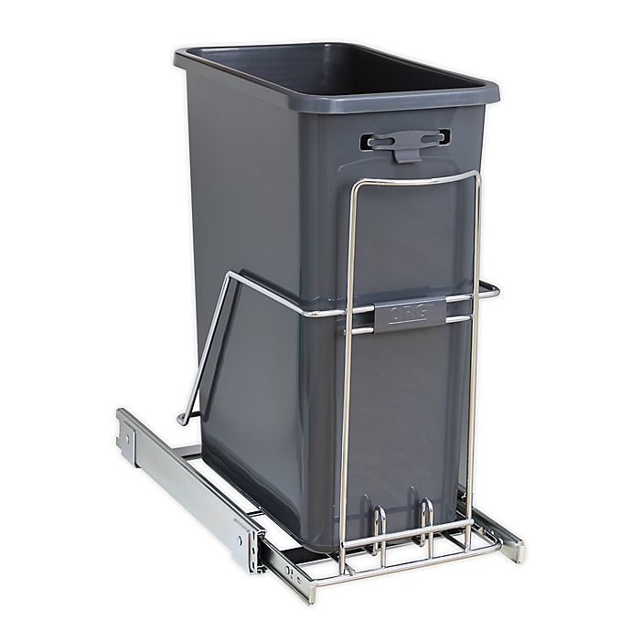 Alternate image 1 for ORG™ Org Steel Under Cabinet 15.74-Inch x 10.2-Inch Trash Can in Chrome