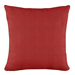 Skyline Furniture Linen Square Throw Pillow in Red