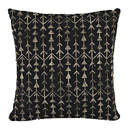 Skyline Furniture Arrow Stripe Square Throw Pillow in Ink Black