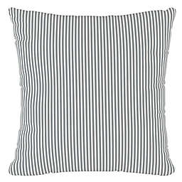 Skyline Furniture Oxford Stripe Square Throw Pillow in Charcoal